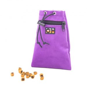 Purple dog treat bag