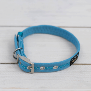 Light blue Oscar and Hooch dog collar