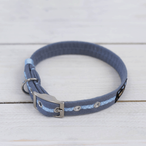 Sky blue Oscar and Hooch dog collar