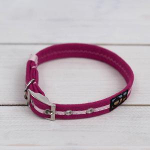 Bright pink Oscar and Hooch dog collar
