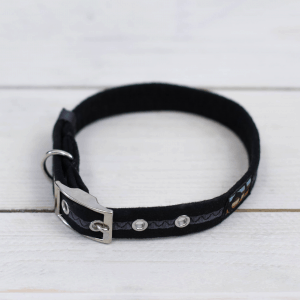 Black Oscar and Hooch dog collar