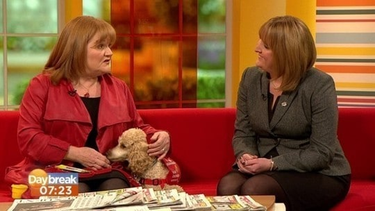 Lesley Nicol on ITV's Daybreak for Medical Detection Dogs