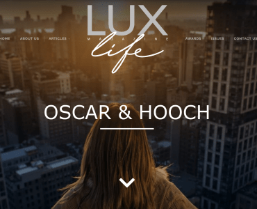 Oscar & Hooch win Best Contemporary Dog Accessories Provider in LUX Magazine