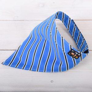 Blue and black dog bandanna