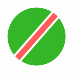 Green, red & white striped bandana