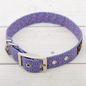 purple daisy collar
