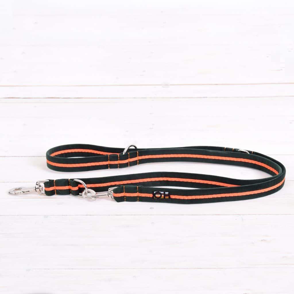 Neon orange dog training lead